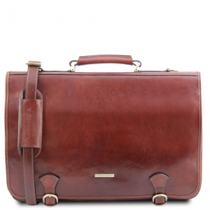 Tuscany Leather TL141853 Ancona - Cartella in pelle Marrone