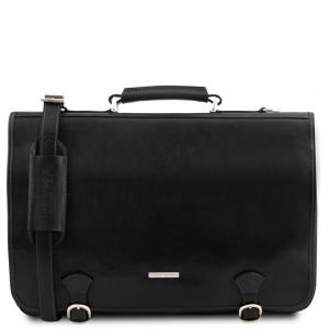 Tuscany Leather TL141853 Ancona - Cartella in pelle Nero