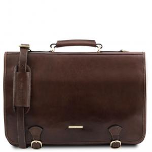 Tuscany Leather TL141853 Ancona - Cartella in pelle Testa di Moro