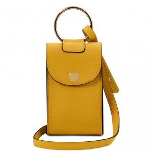 Tuscany Leather TL141865 TL Bag - Tracollina Portacellulare in pelle Senape