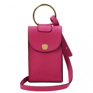 Tuscany Leather TL141865 TL Bag - Tracollina Portacellulare in pelle Magenta