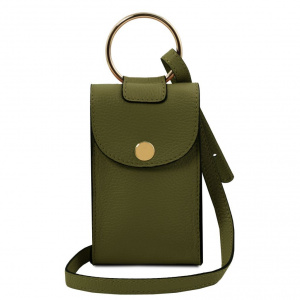 Tuscany Leather TL141865 TL Bag - Tracollina Portacellulare in pelle Verde Oliva