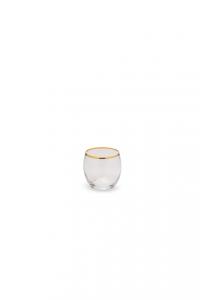 Bicchiere Acqua in vetro con bordo filo Filo Oro CL 34 cm.8,3h diam.7,9