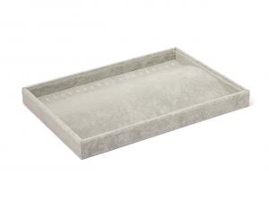 Espositore gioielli in velluto grigio cm.35x24,5x3h