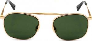 G-STAR RAW - Occhiale da Sole Uomo, METAL HOYM, Gold/Green Shaded  GS119S 717 C54