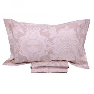 Lenzuola piazza e mezza effetto-copriletto MIRABELLO BRUGES rosa