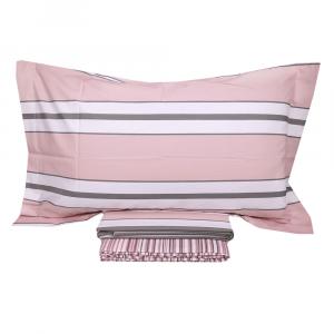 Lenzuola matrimoniale MIRABELLO effetto-copriletto CAPFERRAT rosa