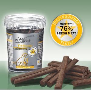 Snacks per cani Platinum senza glutine pollo e coniglio 1x300gr