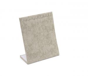 Espositore verticale per collane braccialetti in velluto grigio cm.20x25h