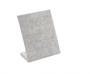 Espositore verticale per orecchini in velluto grigio cm.20x25h