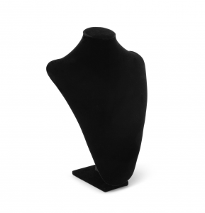 Busto espositore per collane in velluto nero cm.28x36h
