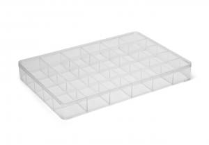 Contenitore rettangolare portagioie cm.34,5x24x4h