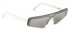 Balenciaga - Occhiale da Sole Unisex, Matte White/Silver Shaded  BB0003S-002  C99