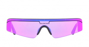 Balenciaga - Occhiale da Sole Unisex, Matte Black/Violet Shaded  BB0003S-003  C99