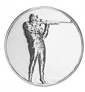 Medaglietta Pistrina Tiro a segno cm.2,5x2,5x0,1h