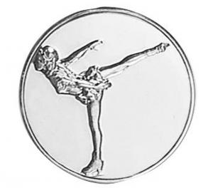 Medaglietta Piastrina Pattinaggio cm.2,5x2,5x0,1h