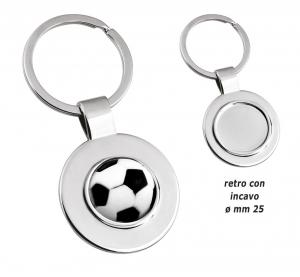 Portachiavi pallone calcio cm.7,8x3,5x1h