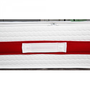 Materasso in MEMORY FOAM alto 22 cm con CUSCINI Cervicale GRATIS Lastra Massaggiante, Ortopedico, Rivestimento Anallergico Bianco SFODERABILE