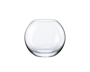 Vaso a sfera in vetro cm.13,3h diam.15,5