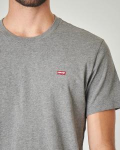 T-shirt grigia con logo batwing piccolo