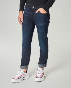 Jeans 511 lavaggio scuro con cuciture arancioni