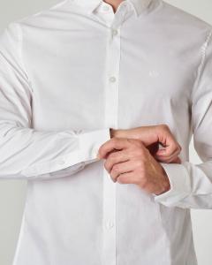 Camicia bianca in popeline stretch