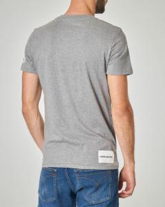 T-shirt grigia con stampa CK