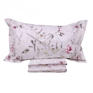 Lenzuola effetto-copriletto matrimoniale MIRABELLO ROSALIND rosa