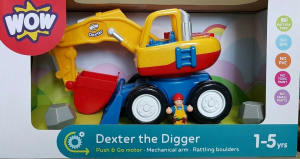 WOW TOYS DEXTER THE DIGGER CON OMINO E SASSI