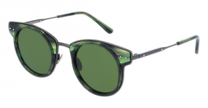 Bottega Veneta - Occhiale da Sole Unisex, Havana Green/Green Shaded  BV0063S-003  C46