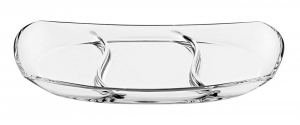 Antipastiera 3 scomparti in vetro cm.36,5x19,5x4,5h