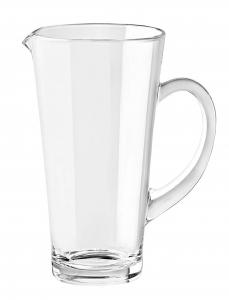 Brocca Rialto in vetro con tappo cm.22h diam.11