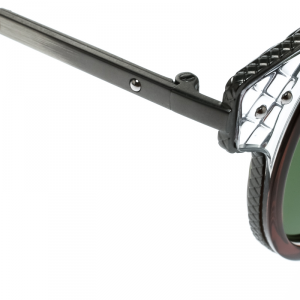 Bottega Veneta - Occhiale da Sole Unisex, Grey/Green Shaded  BV0063S-006  C46