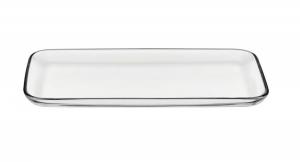 Piatto da portata rettangolare in vetro cm.32,5x16x2h