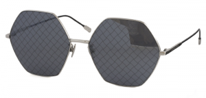 Bottega Veneta - Occhiale da Sole Donna, Silver/Black Shaded  BV0201S-001  C60