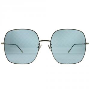 Bottega Veneta - Occhiale da Sole Donna, Silver/Blue Shaded  BV0202S-002  C58