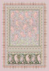 BASSETTI PLAID Granfoulard Rosa 135x190 cm ANACAPRI v.6 originale