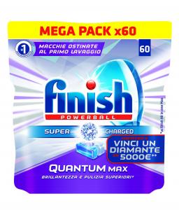 Finish Quantum Max 60 Tabs Pads Dishwasher Detergents