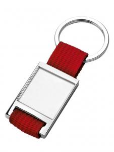 Portachiavi in tessuto rosso cm.8,7x3,5x0,7h