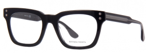 Bottega Veneta - Occhiale da Vista Uomo, Black/Grey Transparent  BV0240O-001  C51