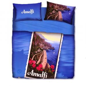 Set lenzuola piazza e mezza BASSETTI Amalfi effetto copriletto