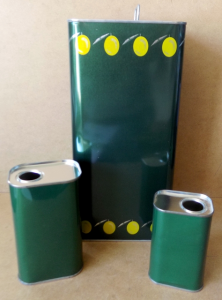 Tanica in latta verde da lt.0.25 a lt.10