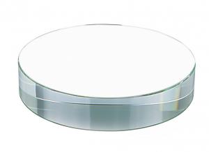 Fermacarte rotondo in vetro cm.8x8x1,9h