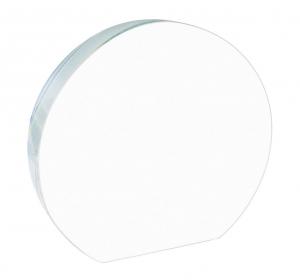 Fermacarte semitondo in vetro cm.12x11x1,9h