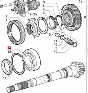 Cuscinetto differenziale Alfa Romeo GTV6, 75 60522435, 116551324800, 543073B, N209
