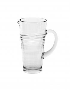 Brocca Oasi in vetro con manico cm.22h diam.11,5