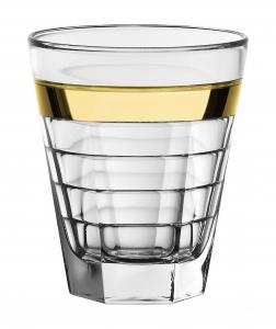 Set 6 Bicchieri Baguette acqua Fascia Oro cm.11h diam.9