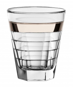 Set 6 Bicchieri Baguette acqua Fascia Platino cm.11h diam.9