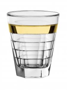Set 6 Bicchieri Baguette Vino Fascia Oro cm.10h diam.9