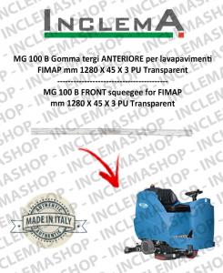 MG 100 B Gomma tergi ANTERIORE per lavapavimenti FIMAP